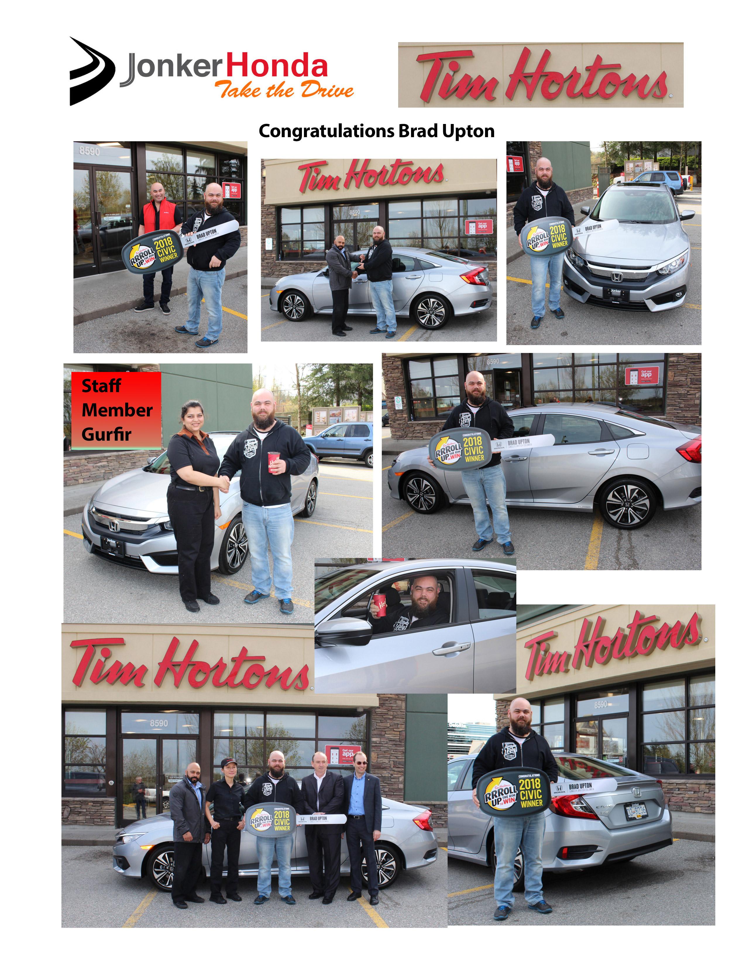 Tim Hortons Honda Winner 2018